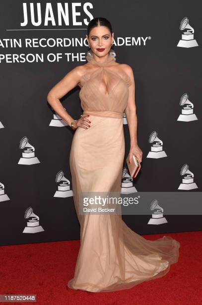 Chiquinquirá Delgado attends the Latin Recording Academy's 2019 Person of the Year gala honoring Juanes at the Premier Ballroom at MGM Grand Hotel...