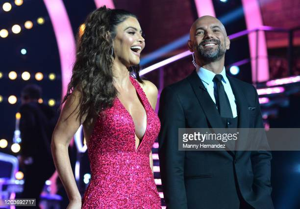 Chiquinquirá Delgado Javier Poza at Mira Quien Baila All Stars Week 4 at Univision Studios in Miami FL on February 2 2020 This week's episode...