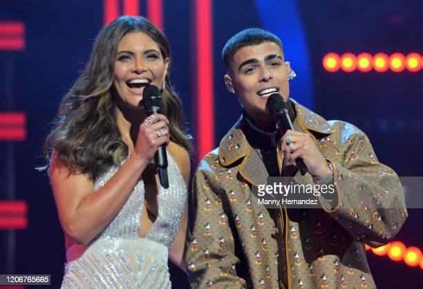 Chiquinquirá Delgado Lunay at Mira Quien Baila All Stars 6th week at Univision Studios on February 16 2020 in Miami Florida