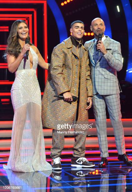 Chiquinquirá Delgado Lunay Javier Poza at Mira Quien Baila All Stars 6th week at Univision Studios on February 16 2020 in Miami Florida