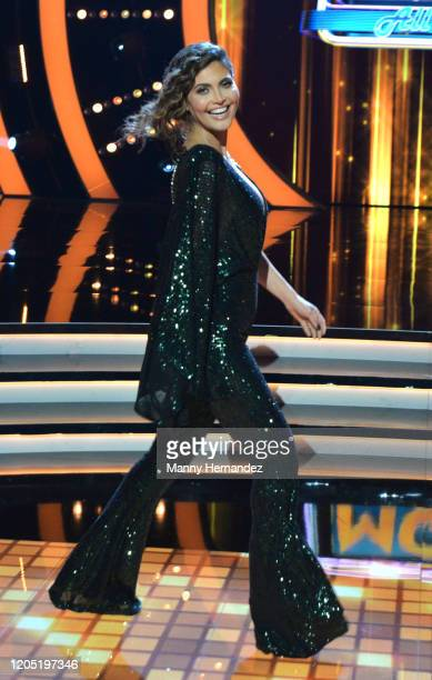 Chiquinquira Delgado at Mira Quien Baila All Stars 5th week at Univision Studios on February 9 2020 in Miami Florida