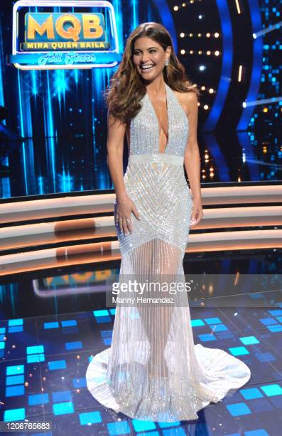 Chiquinquira Delgado at Mira Quien Baila All Stars 6th week at Univision Studios on February 16 2020 in Miami Florida