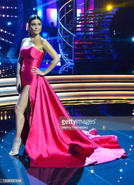 Chiquinquira Delgado at Mira Quien Baila All Stars Finals at Univision Studios on February 23 2020 in Miami Florida