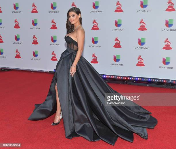 Chiquinquira Delgado attends the 19th annual Latin GRAMMY Awards at MGM Grand Garden Arena on November 15 2018 in Las Vegas Nevada