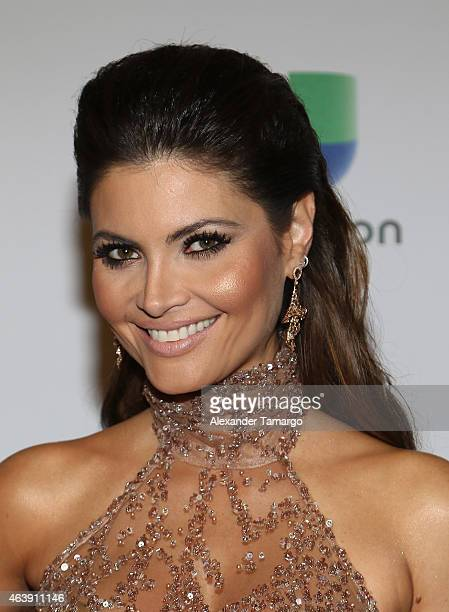 Chiquinquira Delgado attends the 2015 Premios Lo Nuestros Awards at American Airlines Arena on February 19 2015 in Miami Florida