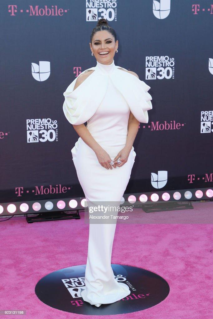 Chiquinquira Delgado attends Univision's 30th Edition Of 'Premio Lo Nuestro A La Musica Latina' at American Airlines Arena on February 22, 2018 in Miami, Florida.