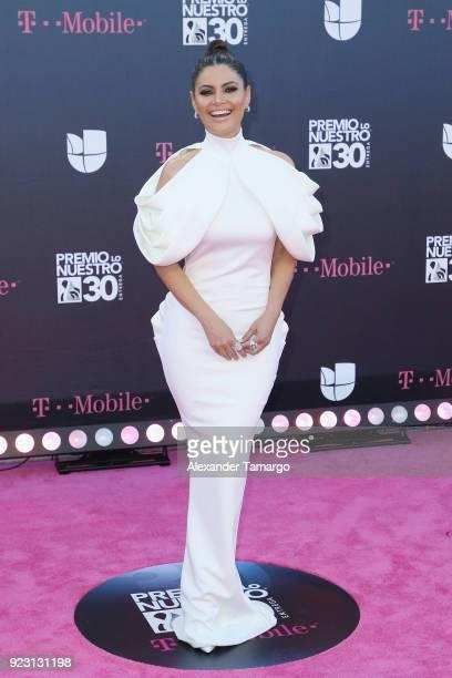 """Chiquinquira Delgado attends Univision's 30th Edition Of """"Premio Lo Nuestro A La Musica Latina"""" at American Airlines Arena on February 22, 2018 in..."""