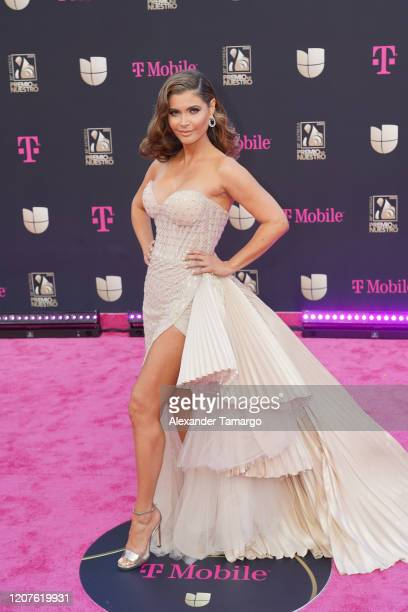 Chiquinquira Delgado attends Univision's Premio Lo Nuestro 2020 at AmericanAirlines Arena on February 20 2020 in Miami Florida
