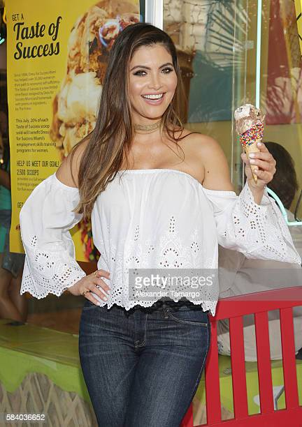 Chiquinquira Delgado is seen at the Taste for Success event to benefit Dress for Success Miami at The Frieze Ice Cream Factory on July 27 2016 in...