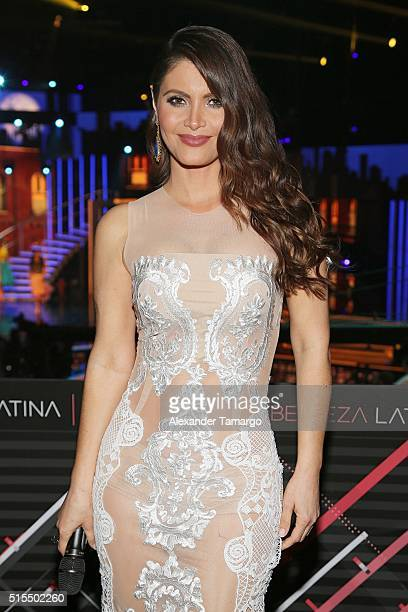Chiquinquira Delgado is seen backstage on the set of Nuestra Belleza Latina at Univision Studios on March 13 2016 in Miami Florida