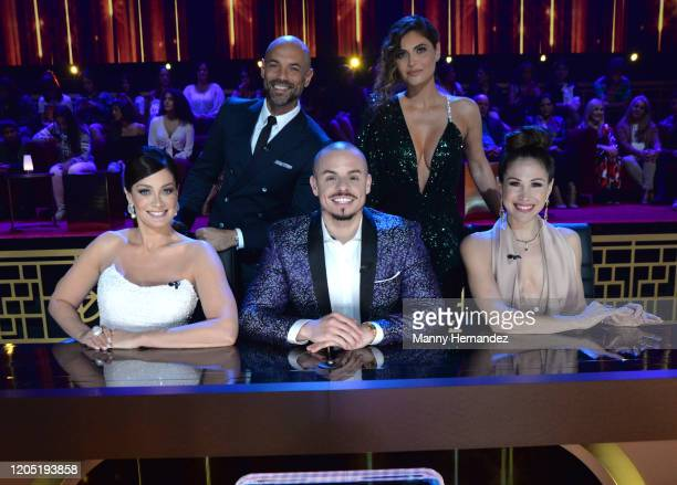 Chiquinquira Delgado Javier Poza Dayanara Torres Casper Smart Bianca Marroquín at Mira Quien Baila All Stars 5th week at Univision Studios on...