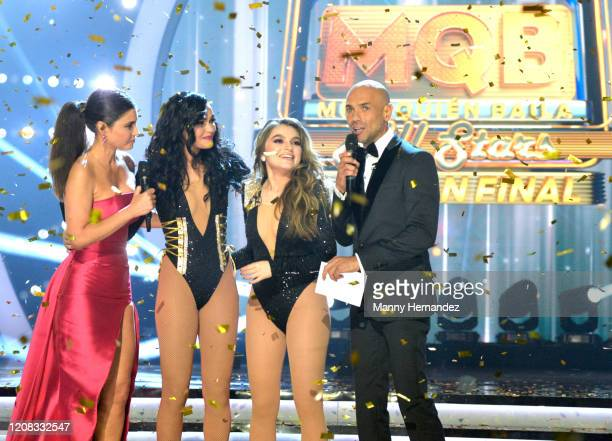 Chiquinquira Delgado Kiara Liz Sofia Castro Javier Poza at Mira Quien Baila All Stars Finals at Univision Studios on February 23 2020 in Miami Florida