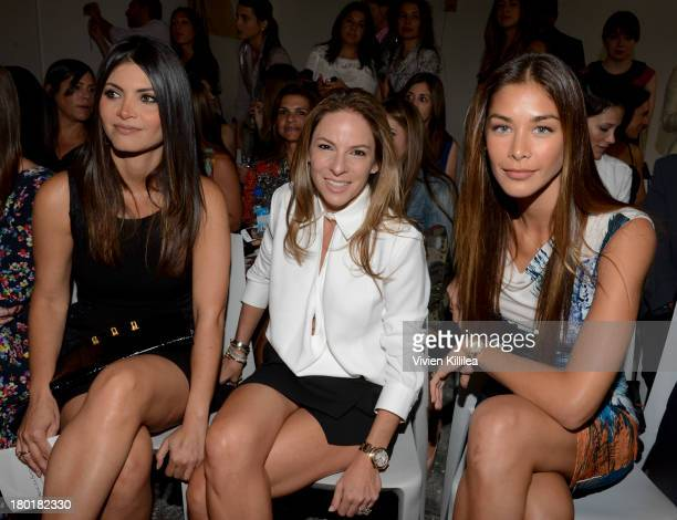Chiquinquira Delgado Natalie Badler and Dayana Mendoza attend the Angel Sanchez presentation during MercedesBenz Fashion Week Spring 2014 on...