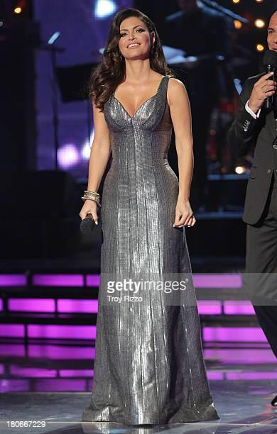 Chiquinquira Delgado participates in premiere of Univision's Mira Quien Bailashow on September 14 2013 in Miami Florida