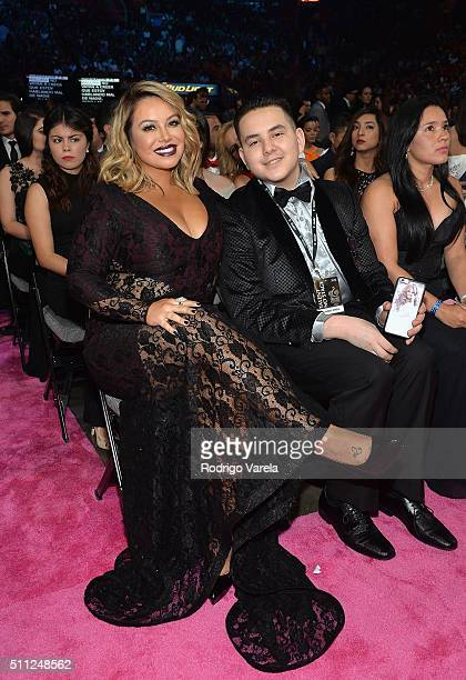 Chiquis Rivera and guest attend Univision's 28th Edition of Premio Lo Nuestro A La Musica Latina on February 18 2016 in Miami Florida