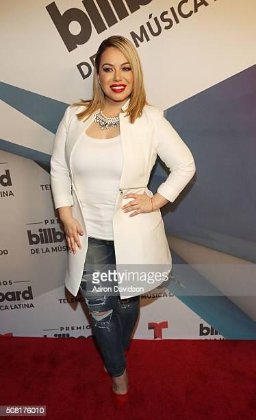 Chiquis Rivera attends 2016 Billboard Latin Music Awards press conferece at Gibson Guitar Miami Showroom on February 3 2016 in Miami Florida