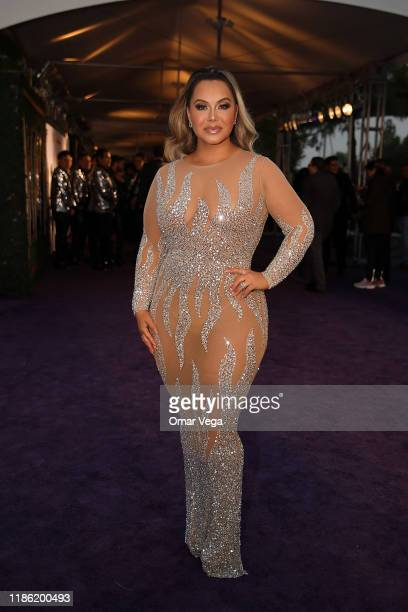 Chiquis Rivera attends Premios de la Radio 2019 at Verizon Theater on November 7 2019 in Grand Prairie Texas