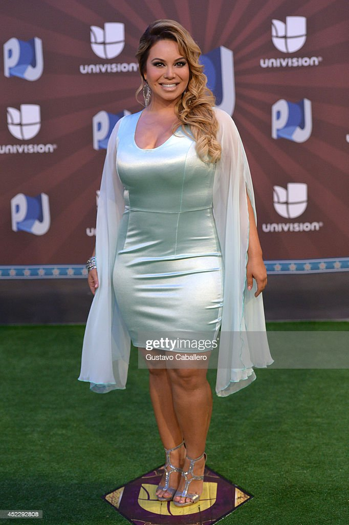 Chiquis Rivera attends the Premios Juventud 2014 at The BankUnited Center on July 17, 2014 in Coral Gables, Florida.