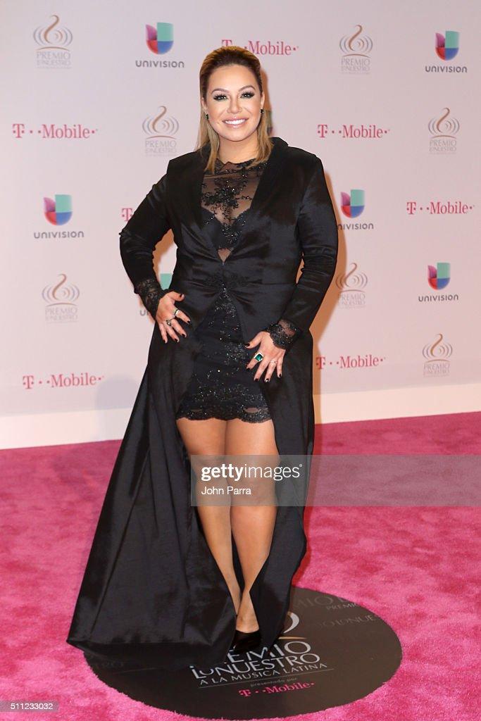 Chiquis Rivera attends Univision's 28th Edition of Premio Lo Nuestro A La Musica Latina on February 18, 2016 in Miami, Florida.