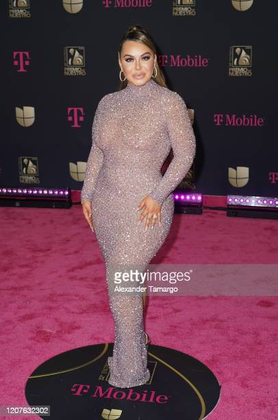 Chiquis Rivera attends Univision's Premio Lo Nuestro 2020 at AmericanAirlines Arena on February 20 2020 in Miami Florida