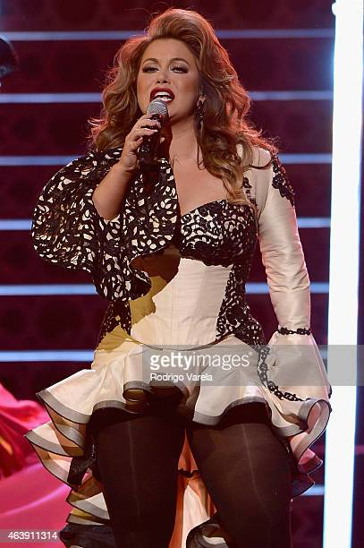 Chiquis Rivera performs onstage at the 2015 Premios Lo Nuestros Awards at American Airlines Arena on February 19 2015 in Miami Florida