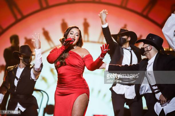 Chiquis Rivera performs onstage during the Latin GRAMMY Celebra Ellas y Su Musica Show on May 09, 2021 in Hollywood, Florida.