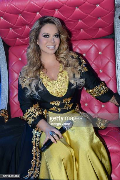 Chiquis Rivera performs onstage during the Premios Juventud 2014 at The BankUnited Center on July 17 2014 in Coral Gables Florida
