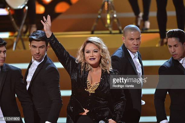 Chiquis Rivera performs onstage during Univision's 28th Edition of Premio Lo Nuestro A La Musica Latina on February 18 2016 in Miami Florida