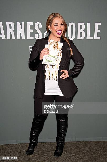 Chiquis Rivera promotes her book Forgiveness at Barnes Noble Tribeca on April 8 2015 in New York City