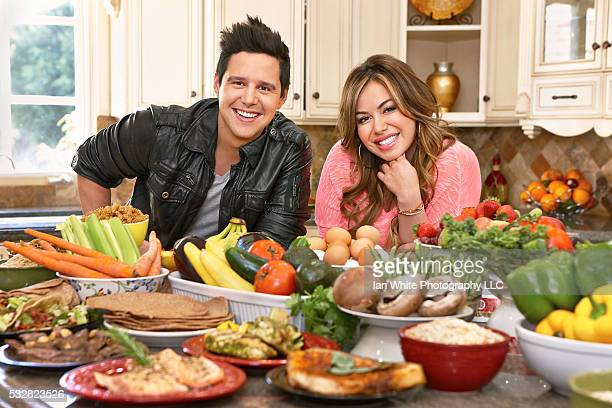 Chiquis Rivera with celebrity nutrition and wellness consultant Alejandro Chabán in her Los Angeles home
