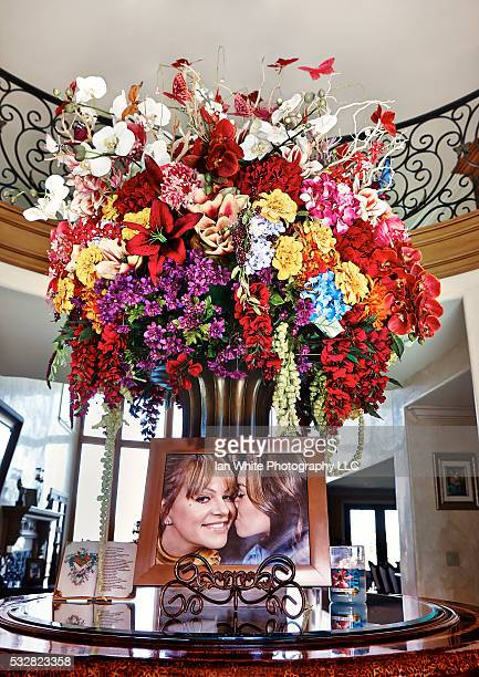 Chiquis Rivera's flowers for her mother Jenni Rivera in her Los Angeles home