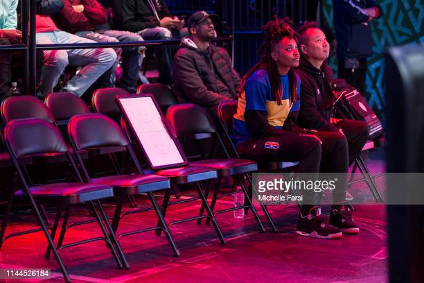 Chiquita of Warriors Gaming Squad looks on during the game against Magic Gaming during Week 5 of the NBA 2K League regular season on May 16 2019 at...