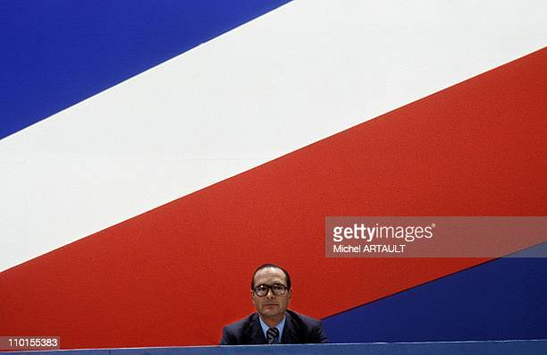 Chirac in the extraordinary congress of RPR PTE of Versailles in Paris France on December 05 1976