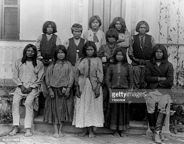 Chiracahua Apaches as they looked upon their arrival at the Carlisle Indian School an institution dedicated to inducing Native Americans to abandon...