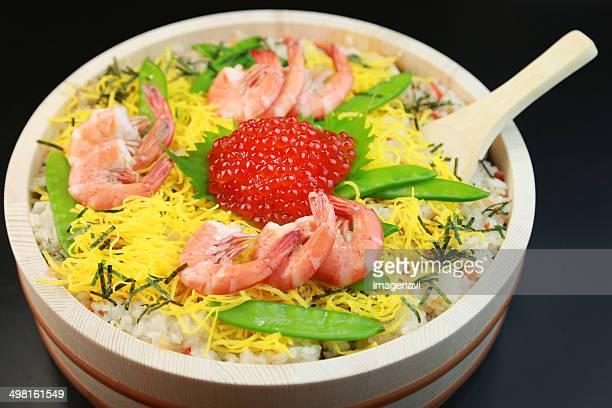Chirashi zushi (Scattered sushi)