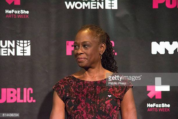 JOE'S PUB NEW YORK NY UNITED STATES Chirlaine McCray participates in the panel discussion On International Women's Day NYC First Lady Chirlaine...
