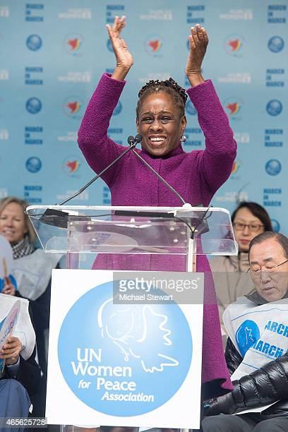 Chirlane McCray attends the 2015 International Women's Day March at Dag Hammarskjold Plaza on March 8 2015 in New York City