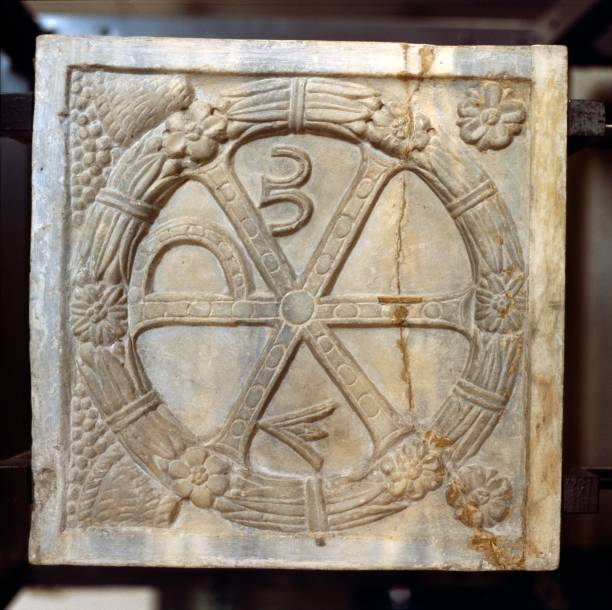 Chi Ro Symbol With Alpha And Omega Pictures Getty Images