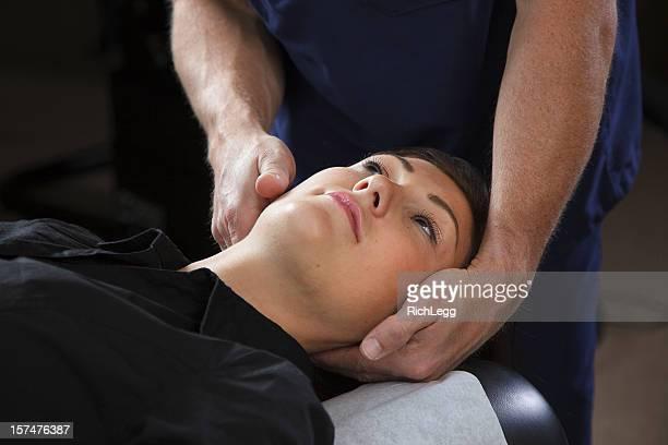 Quiropráctico paciente