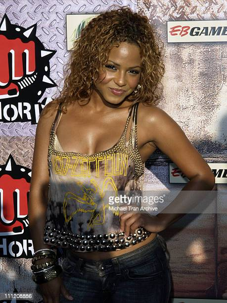 Chirstina Milian during GPhoria 2005 The Mother of All Videogame Award Shows Arrivals at Los Angeles Center Studios in Los Angeles California United...