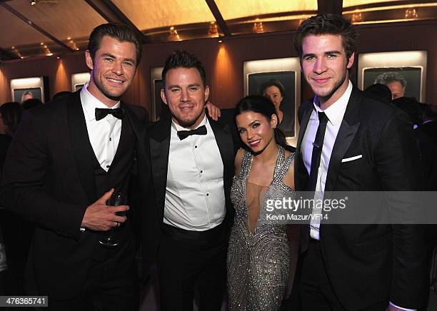Chis Hemsworth, Channing Tatum, Jenna Dewan-Tatum and Liam Hemsworth attend the 2014 Vanity Fair Oscar Party Hosted By Graydon Carter on March 2,...