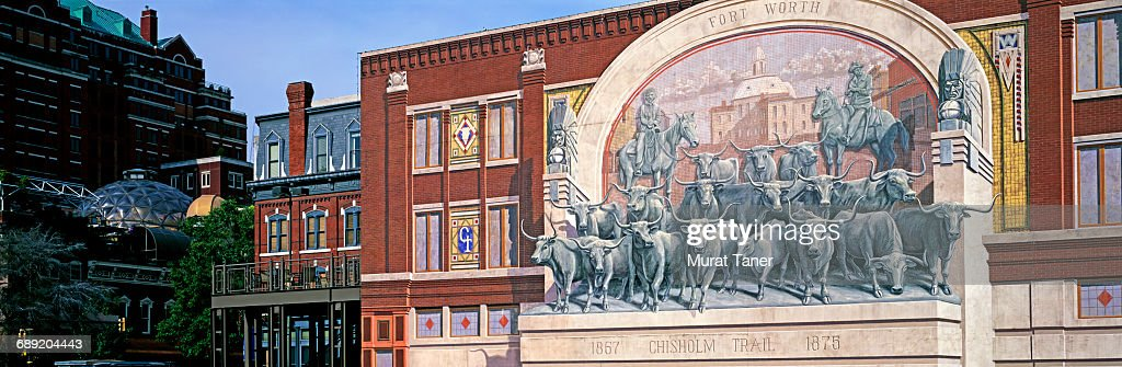 Chisholm Trail Mural : Stock Photo
