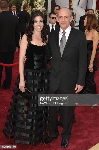 Chistopher Lloyd and wife Jane Walker Wood arrive on the red carpet