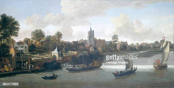 'Chiswick from the River' c1675 The Thames waterfront at Chiswick when it was still a village on the outskirts of London From left to right are Old...
