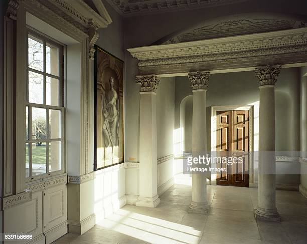 Chiswick House London c19902010 The Link Building first floor room View towards Corinthian colonnade with door behind Chiswick House is a Palladian...