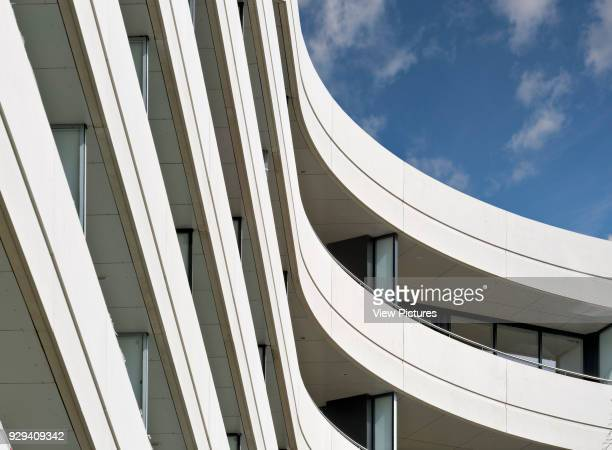 Chiswick Point Apartments detailed view from below Chiswick Point Chiswick United Kingdom Architect Flanagan Lawrence 2015