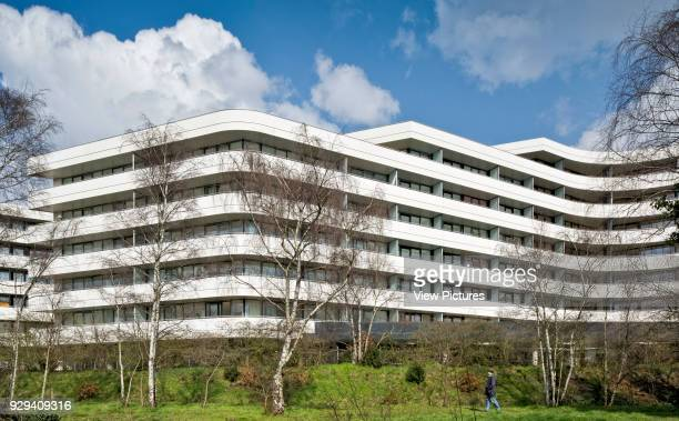 Chiswick Point Apartments view from Gunnersbury Triangle Nature Reserve Chiswick Point Chiswick United Kingdom Architect Flanagan Lawrence 2015