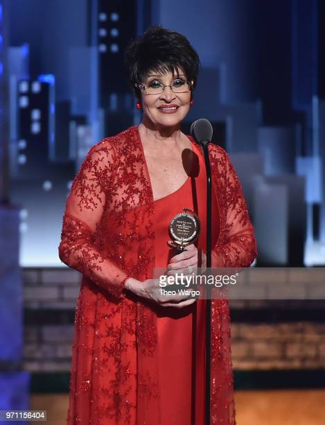 Chita Rivera accepts the Special Tony Award for Lifetime Achievement in the Theatre onstage during the 72nd Annual Tony Awards at Radio City Music...