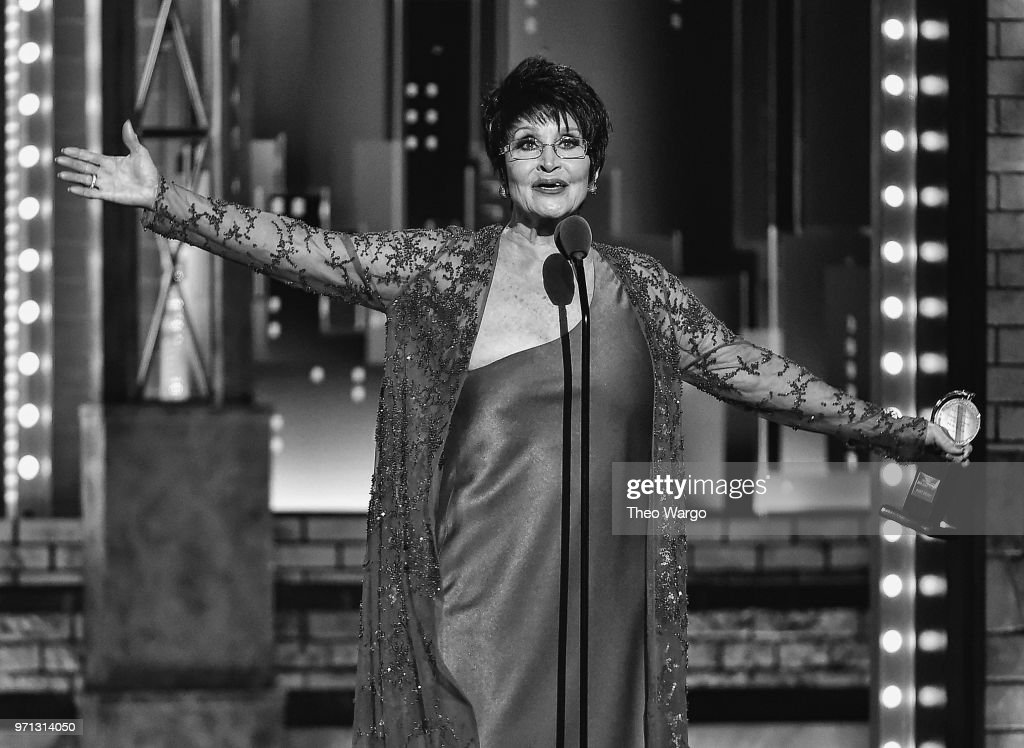 Chita Rivera accepts the Special Tony Award for Lifetime Achievement in the Theatre onstage during the 72nd Annual Tony Awards at Radio City Music Hall on June 10, 2018 in New York City.
