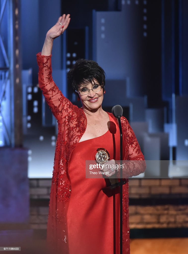 Chita Rivera accepts the Special Tony Awards for Lifetime Achievement in the Theatre onstage during the 72nd Annual Tony Awards at Radio City Music Hall on June 10, 2018 in New York City.